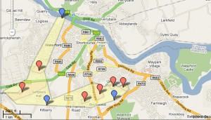 Map of housing sites
